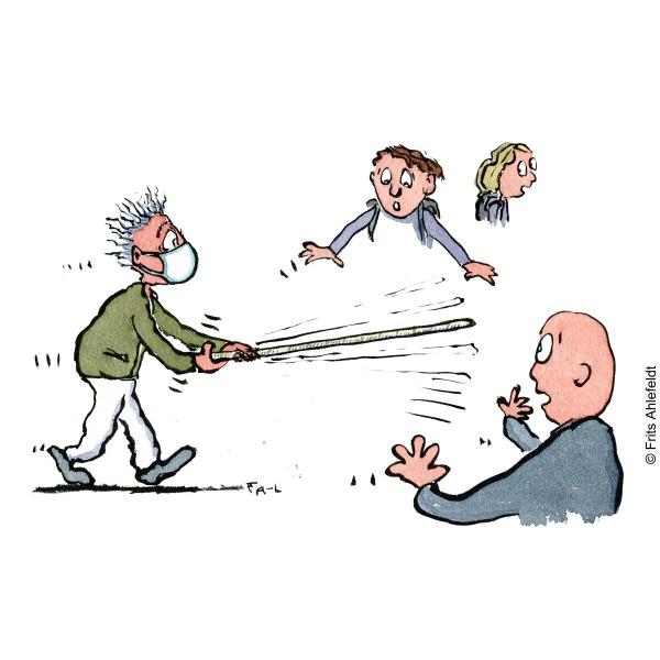 Drawing Self-isolation Psychology illustration by Frits Ahlefeldt